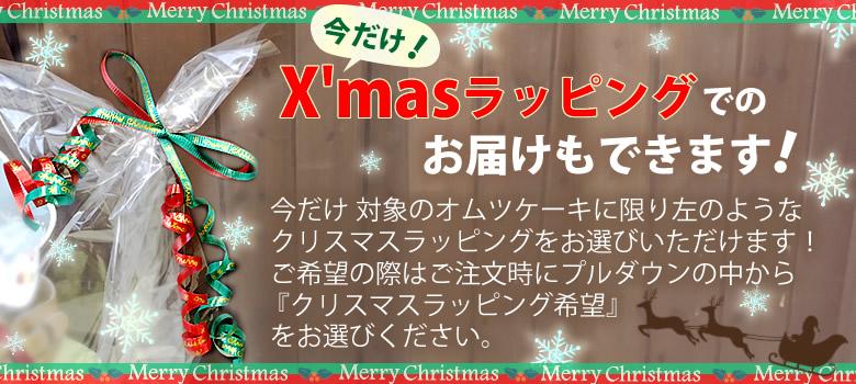 今だけ!クリスマスラッピング xmas