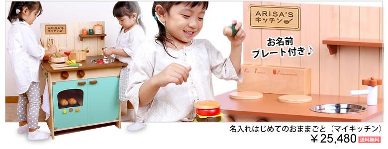 【出産祝い おむつケーキにプラス】知育玩具 はじめてのおままごと(マイキッチン)(お名前プレート付き)